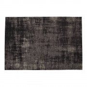 Maisons du Monde Alfombra negra de algodón 140 × 200 cm FEEL
