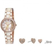 Fossil Virginia Analog Mother of Pearl Dial Pair Watch - ES3965SET