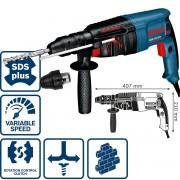 Перфоратор 2 kg със SDS-plus GBH 2-26 DFR, 800 W, 2,7 J, 0 – 900 min-1, 2,9 kg, 0611254768, BOSCH