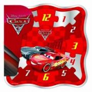 Cars 3- Puzzle din lemn, ceas
