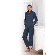 Hutschreuther Fleece-Homesuit, 48 - Tintenblau