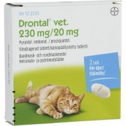Drontal vet., filmdragerad tablett 230 mg/20 mg 2 st