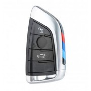 Carcasa cheie Smart Key BMW X1 F48, X5 F15 F85, X6 F16 F86, 2 F45 F46 3 butoane negru