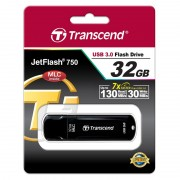 USB DRIVE, 32GB, Transcend JETFLASH 750, USB3.0, Black (TS32GJF750K)