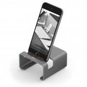 Elago M3 Stand - поставка от алуминий и дърво за iPhone и iPad mini (тъмносива)