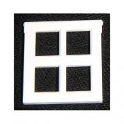 Lego Building Accessories 4 x 3 White Window, Bulk - 50 Pieces per Package