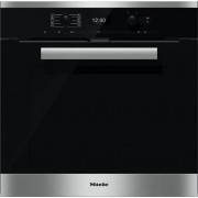 Miele Pureline H6460BP CleanSteel Single Built In Electric Oven - Stainless Steel