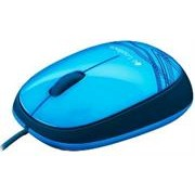 Logitech M105 Wired Mouse Blue -3 Buttons with