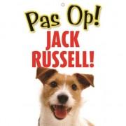 Merkloos Honden waakbord pas op Jack Russell 21 x 15 cm