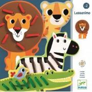 Zestaw zwierzątek do nauki nawlekania i szycia, Nawlekanka LASSANIMO DJECO DJ01683