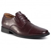Обувки CLARKS - Tilden Cap 261383887 Wine Leather