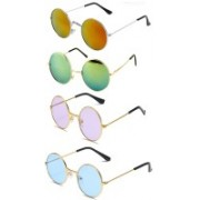 SRPM Round Sunglasses(Violet, Blue, Yellow, Green)