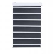 Roljaloezie lichtdoorlatend - zwart - 180x250 cm - Leen Bakker