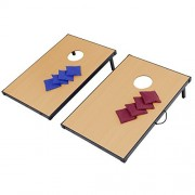 Carry Foldable MDF Wood Cornhole Game Set Boards w/ 8 Bean Bags
