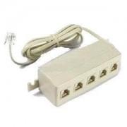 Multipresa plug RJ11 telefono 5 way con cavo