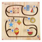 Skillofun Wooden Maze Chase - Shapes Around Us, Multi Color