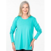 Seniors' Wear Long Sleeve Turquoise Top
