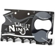 Gadget Hero's Wallet Ninja 18 Multi-utility Knife(Black)