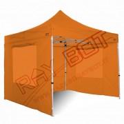 ray bot Gazebo pieghevole 3x3 arancione Exa 45mm alluminio con finestre PVC 350g