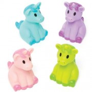 Baker Ross Pastel Unicorns - 4 Small Unicorn Toys In Cute Colours. Unicorn Party Bag Fillers. Size 7cm.
