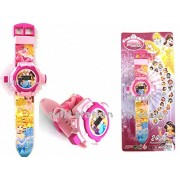V-Cart Online Services Princess Projector Digital Watch With 24 Images for Kids