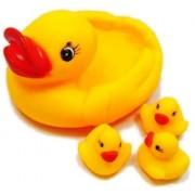 Dolphers Duck Family Baby Bathing Toys Set - Non-Toxic Soft chu chu Toddler Bath Toys- Set of 4
