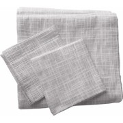 Set de cuvertura de pat Valentini Bianco cu 2 fete de perna din bumbac jackard model Fust171 Gri