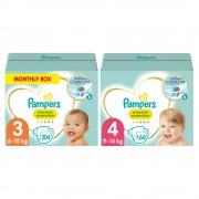 Pampers Premium Protection Luiers Maat 3 en 4 Pakket