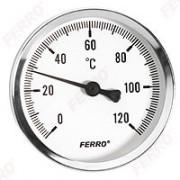 "Termometru 100 mm 1/2"" 120°C, montaj axial"