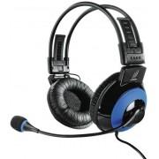 Casti Stereo cu microfon Hama uRage Vibra Gaming (Negru/Albastru)