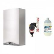 Pachet centrala termica in condensare Ariston CARES PREMIUM 24 EU 24 kW + Filtru anti-magnetita Chemstal Cleanex MAG HF 3/4