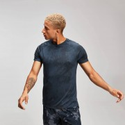Mp T-shirt sportiva Distressed da uomo - Inchiostro - L