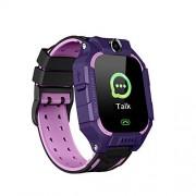 KLJKUJ Q19 Reloj Inteligente para niños, con visualización táctil y cámara en inglés, Resistente al Agua Púrpura SZLXX-DZ20110-18EAD80944