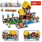 New Technic LegoINGLYs Minecraft 21144 Toys For Children Classic The Farm Cottage DIY Bricks Mini Action figures