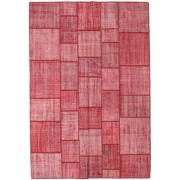 Annodato a mano. Provenienza: Turkey 205X300 Tappeto Patchwork Moderno Fatto A Mano Ruggine/Rosso/Rosa (Lana, Turchia)