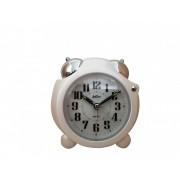 Ceas cu desteptator cu lumina Adler 8135-Alb 10x10 cm