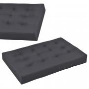 [en.casa]® Raklapbútor párna - Szivacs huzattal raklaphoz (Ülőpárna) - sötétszürke