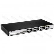 D-Link Switch 28 Port - 24x1000Mbps+4x1000Mbps/SFP Combo Port - DGS-1210-24 Smart Managed Fanless