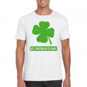 Bellatio Decorations St. Patricksday klavertje t-shirt wit heren