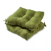 Greendale Home Fashions Indoor/Outdoor Chair Cushions, Summerside Green, 20-Inch, Set of 2