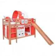 Dečiji krevet na sprat sa toboganomMark Tobogan Natur My Love