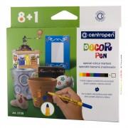 Markere pentru decoratiuni 8+1 culori/set CENTROPEN 2738