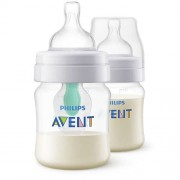 AVENT Lot de 2 BIBERONS ANTICOLIQUE AVEC AIRFREE 125ML