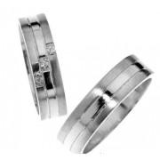 Zlatý snubní prsten Gems Line, 436-0211_0212 z bílého zlata
