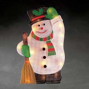 For indoors - Snowman LED window picture