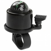 M Wave fietsbel met kompas 34mm 360° zwart