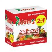 Pachet Multivita13, 1+1 GRATIS, 30 tab, Adams Supplements