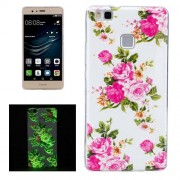 For Huawei P9 Lite Noctilucent Rose Flower Pattern IMD Workmanship Soft TPU Back Cover Case