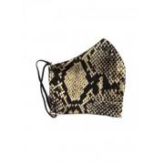 Tvättbart Andningsskydd / Ansiktsmask i Tyg Leopard (Färg: Beige)
