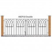 Burbage Iron Craft Abbey Double Driveway Gate